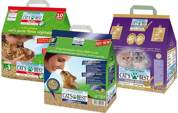 наполнители кошачьего туалета Cats Best