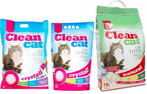 Разнообразие наполнителей clean cat