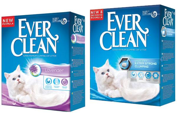 Наполнители кошачьего туалета ever clean