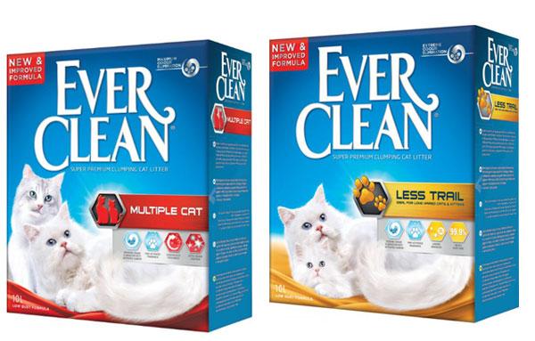 Наполнители для кошачьего туалета ever clean