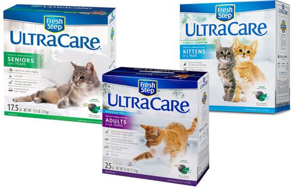 Впитывающие наполнители для кошачьего туалета fresh step линейки Ultra Care