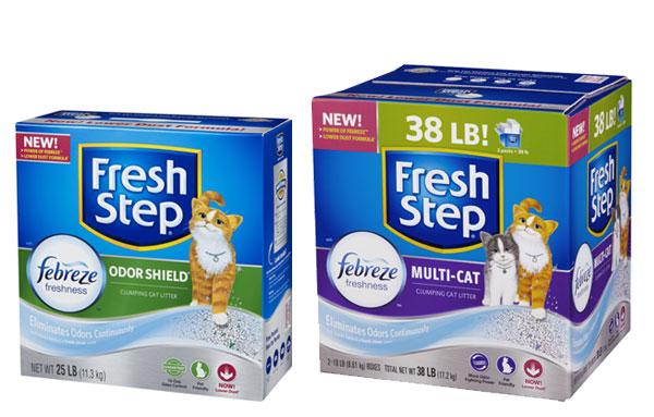 Комкующийся наполнитель для кошачьего туалета fresh step