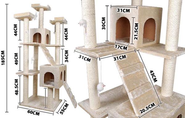 Как сделать игровой комплекс для кошки чертежи