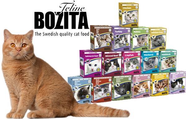 Влажные корма для кошек Бозита