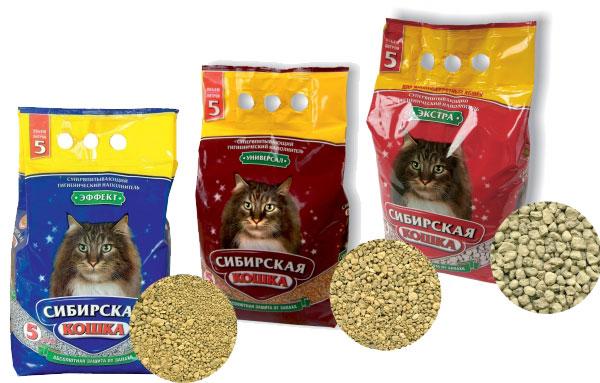 Впитывающие минеральные наполнители для кошачьего туалета сибирская кошка