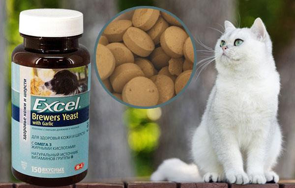 витамины 8 в 1 Excel Brewers Yeast для кошек
