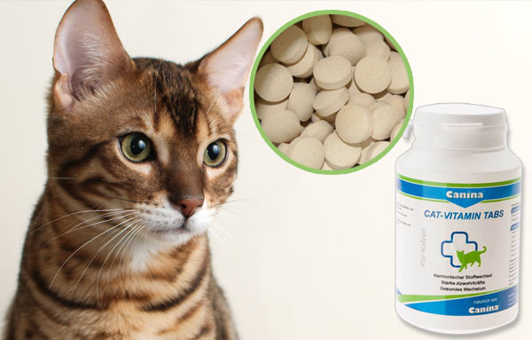 витамины CANINA - CAT-VITAMIN Tabs для кошек