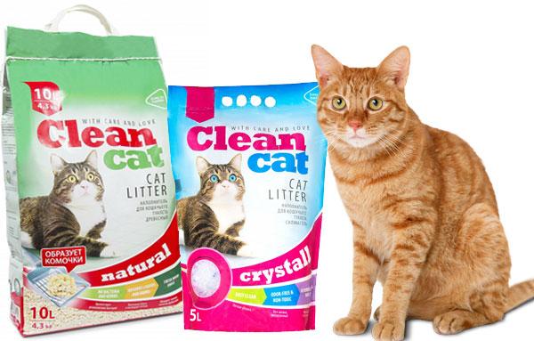 Кошачий наполнитель для туалета clean cat