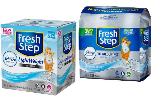 Комкующийся наполнитель для кошачьего туалета фреш степ серии Febreze Freshness