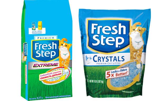 наполнители для кошачьего туалета fresh step