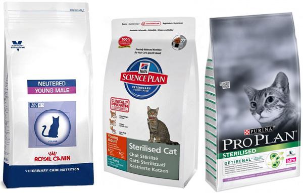 Корма премиум класса для кастрированных котов и кошек