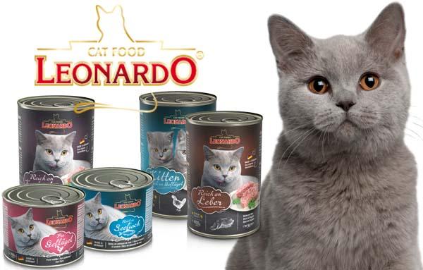 Линейка кормов для кошек Leonardo