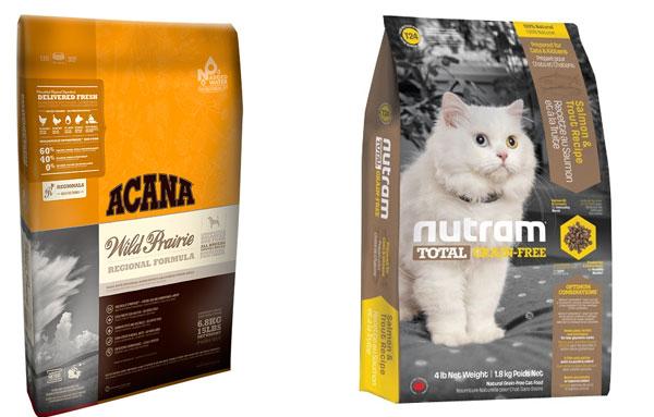 Корма Acana и Nutram