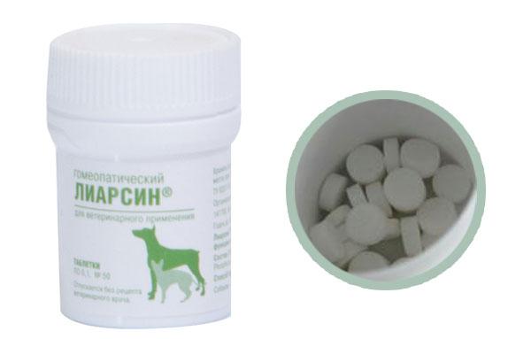 Лиарсин для кошек в виде таблеток